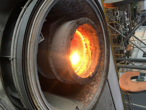 Vacuum degassing plant (VD) from Primetals Technologies not bloom caster
